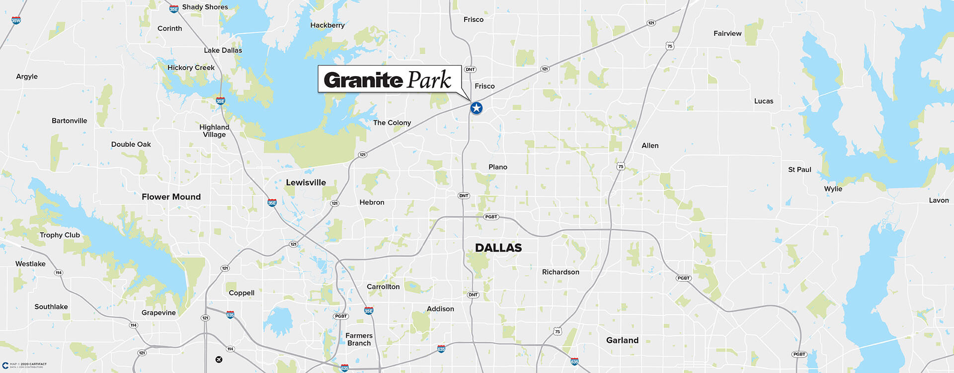 Granite Park Five location map